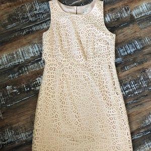 Jcrew cream, eyelet dress.  Size 4